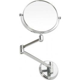 ROUND závěsné kosmetické zrcátko 3xZOOM, pr15cm, chrom (XR005)