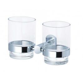 CUBE WAY Dvojitý držák skleniček chrom (SPI47)