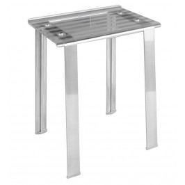 LEO koupelnová stolička 40x30x46cm, čirá ( 5370T )