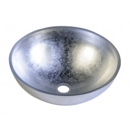 Skleněné umyvadlo 40 cm, MURANO stříbrné ( AL5318-52 )