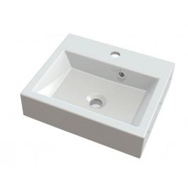 ORINOKO umyvadlo 42x36cm, litý mramor, bílá ( OR042 )