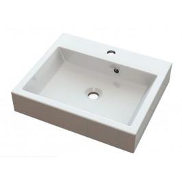 ORINOKO umyvadlo 50x42cm, litý mramor, bílá ( OR050 )
