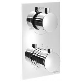KIMURA Podomítková sprchová termostatická baterie, 2 výstupy, chrom ( KU385 )