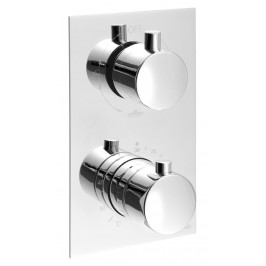 KIMURA Podomítková sprchová termostatická baterie, 3 výstupy, chrom ( KU392 )