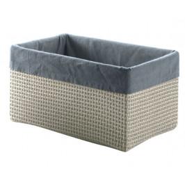 Košík LAVANDA velký lýko/nylon, šedý (LA0608)
