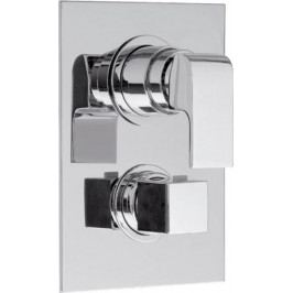 UNA podomítková sprchová termostatická baterie, 3 výstupy, chrom ( UN57169 )