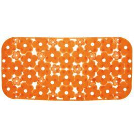 MARGHERITA podložka do vany 34,5x72cm s protiskluzem, PVC, oranžová ( 973572P4 )