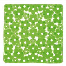 MARGHERITA podložka do sprchového koutu 51,5x51,5cm s protiskluzem, PVC, zelená ( 975151P8 )