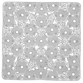 MARGHERITA podložka do sprchového koutu 51,5x51,5cm s protiskluzem, PVC, bílá ( 975151P2 )
