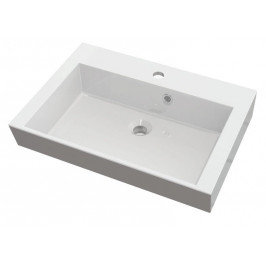 ORINOKO umyvadlo 60x45cm, litý mramor, bílá ( OR060 )