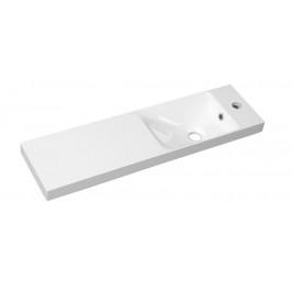 AGOS umyvadlo 80x22cm, litý mramor, bílá, levé/pravé ( AS080 )