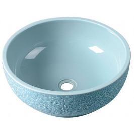 PRIORI keramické umyvadlo, průměr 43cm, blankytná modř ( PI014 )