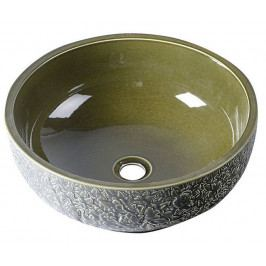 PRIORI keramické umyvadlo, průměr 43cm, olivová zelená ( PI016 )