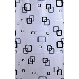 Sprchový závěs 180x180cm, vinyl, bílá/modrá/černá (ZV010)