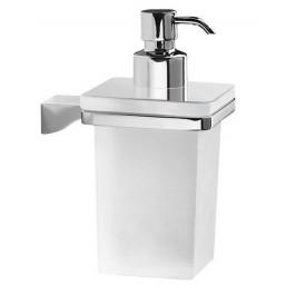 GLAMOUR dávkovač mýdla, chrom/sklo satin ( 5781 )