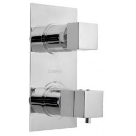 LATUS podomítková sprchová termostatická baterie, 2 výstupy, chrom