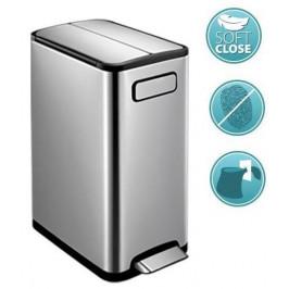 ECOFLY odpadkový koš 20l, Soft Close, broušená nerez (DR620)