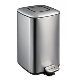 REGENT odpadkový koš 6l, Soft Close, broušená nerez, černá linka (DR501)