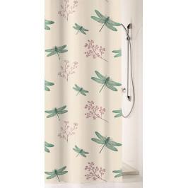 SCARLETT sprchový závěs 180x200cm, textilní vážky (5915683305)