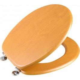 AQUALINE WC sedátko, MDF deska, zlatá borovice (1705-03)