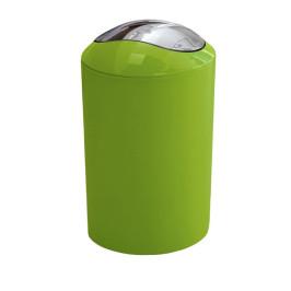 GLOSSY odpadkový koš výklopný 5l, zelený (5063625858)