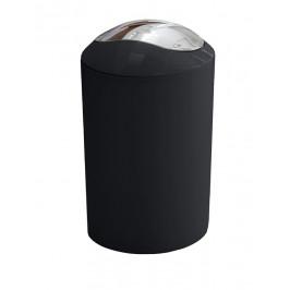 GLOSSY odpadkový koš výklopný 5l, černý (5063926858)