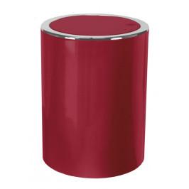 CLAP koupelnový koš výklopný 5 litrů, vínově červený (5829451858)