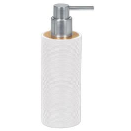 KYOTO dávkovač mýdla na postavení, bílý/bamboo (5079100854)