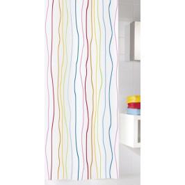 JOLIE sprchový závěs 180x200cm, textilní proužky mix barev (5194148305)