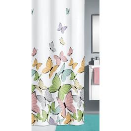 STRIPES sprchový závěs 180x200cm, textilní šedý (5143120305)