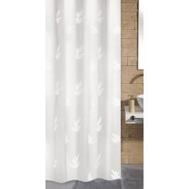 CANTON sprchový závěs 180x200cm, polyester lístky (4994114305)