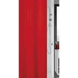 KITO sprchový závěs 120x200cm, polyester červený (4937462238)
