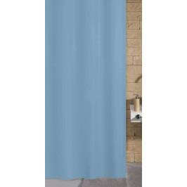 KITO sprchový závěs 120x200cm, polyester modrý (4937733238)