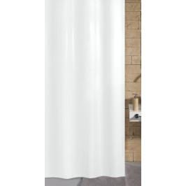 KITO sprchový závěs 180x200cm, polyester bílý (4937114305)