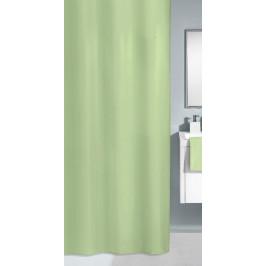 KITO sprchový závěs 180x200cm, polyester zelený (4937617305)