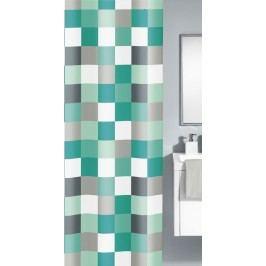 CHECK sprchový závěs 180x200cm, polyester tyrkysový (5270766305)