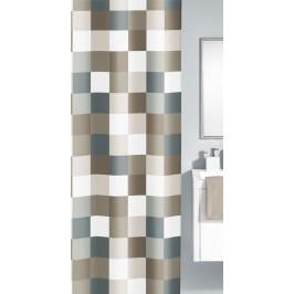 CHECK sprchový závěs 180x200cm, polyester hnědý (5270271305)