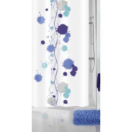 KLEXX sprchový závěs 180x200cm, polyester modré kaňky (5208798305)