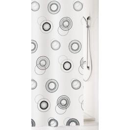 LUNA sprchový závěs 180x200cm, polyester kolečka (5124185305)