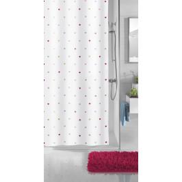 HEARTS sprchový závěs 180x200cm, textilní srdíčka (5284148305)
