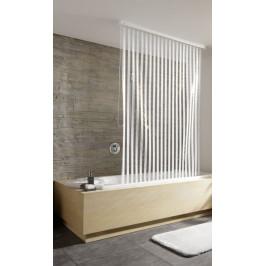 Sprchová roleta 128 x 240 cm, bílé proužky (3321100747)