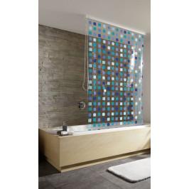 Sprchová roleta 128 x 240 cm, modré ctverečky (3321721747)