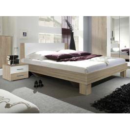 VERA postel 160x200 cm s nočními stolky, dub sonoma/bílá