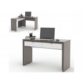 NU počítačový stůl DUE, avola/bílá