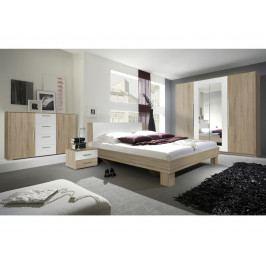 VERA ložnice s postelí 180x200, dub sonoma/bílá