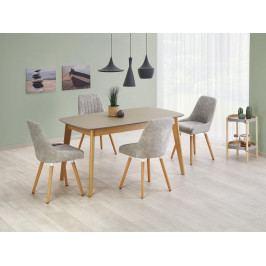 Rozkládací jídelní stůl 150-190x90 ONTARIO, šedý mat/dub