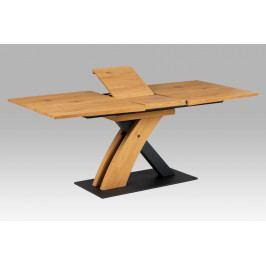 Jídelní stůl 160-200x90 HT-701 OAK, dub divoký/černý mat