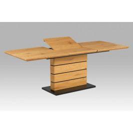 Jídelní stůl 160-220x90 HT-705 OAK, divoký dub/matná černá