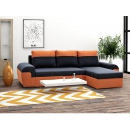 SmartShop Rohová sedačka MORY KORNER, černá/oranžová