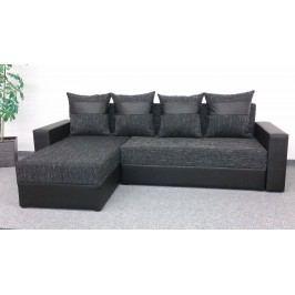 Smartshop Rohová sedačka VERA, univerzální provedení, černá látka/černá ekokůže